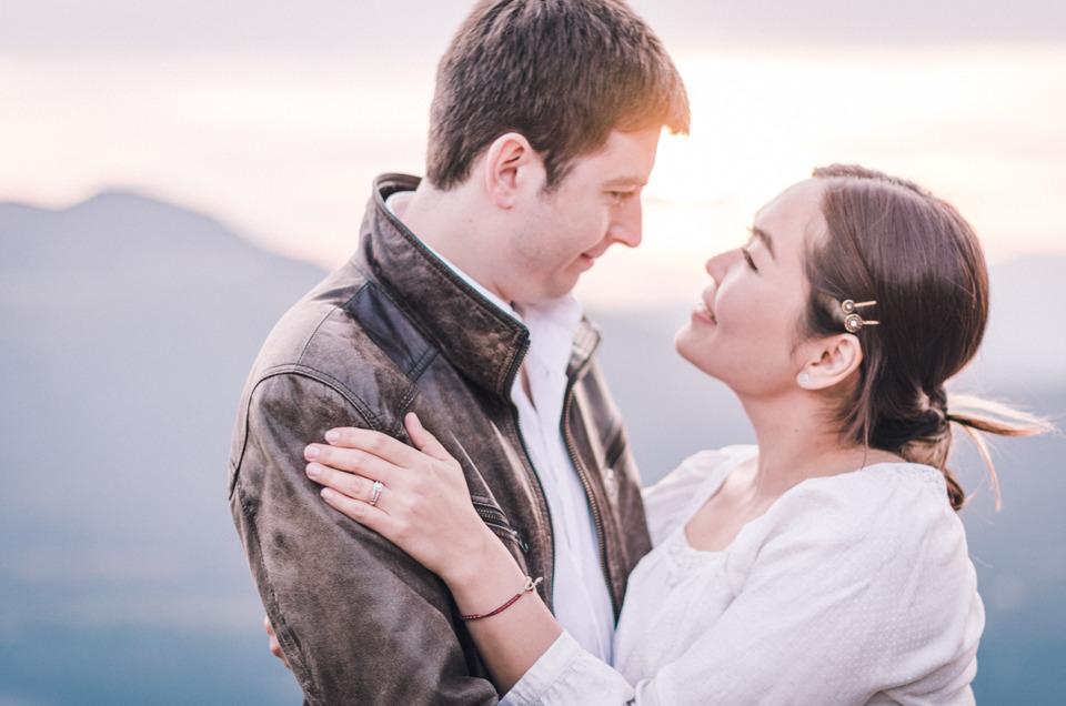 Séance photo de couple à la Chambotte